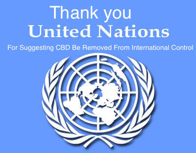 United Nations Recommends CBD Be Removed From International Drug Control